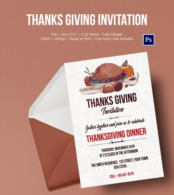 Thanksgiving Invitation Templates Free Word Fresh 73 Thanksgiving Templates Editable Psd Ai Eps format