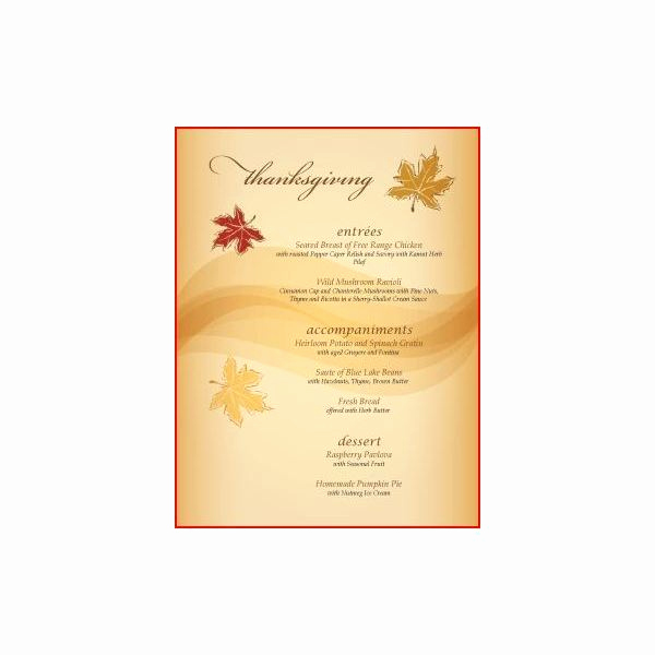Thanksgiving Invitation Templates Free Word Fresh Thanksgiving Menu Template Word – Festival Collections