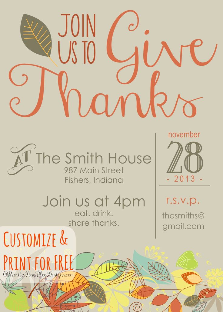 Thanksgiving Invitation Templates Free Word Unique 17 Best Ideas About Thanksgiving Invitation On Pinterest