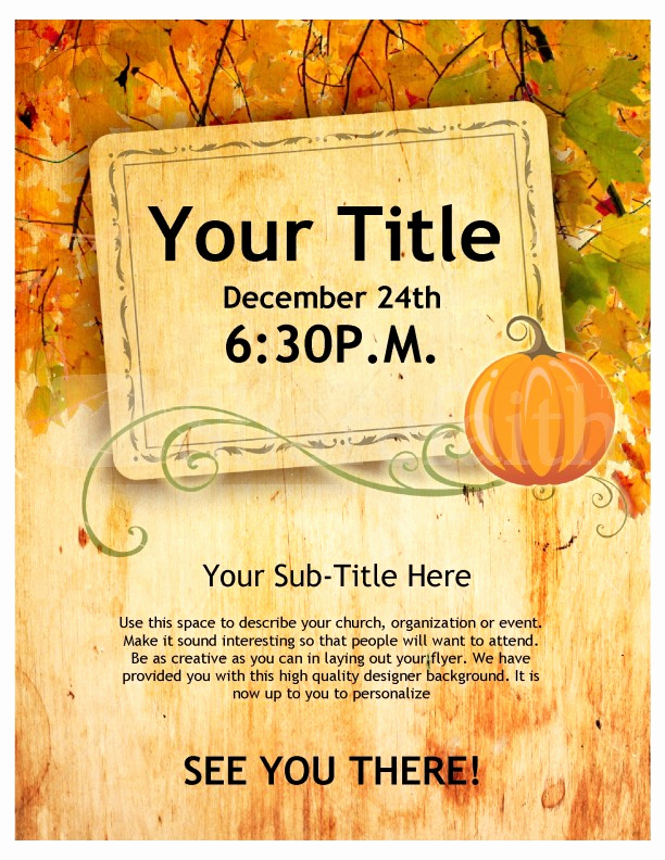 Thanksgiving Invitation Templates Free Word Unique Happy Thanksgiving Flyer