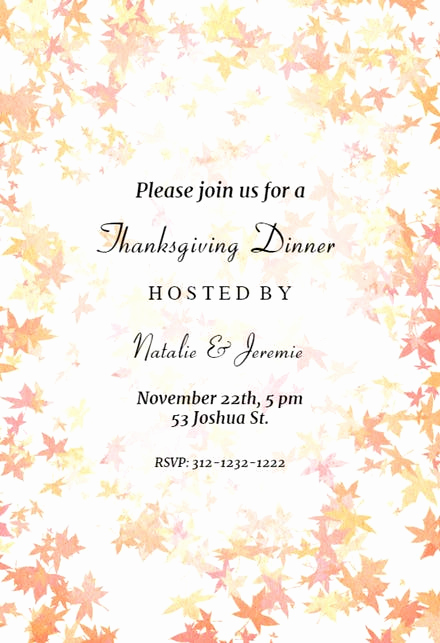 Thanksgiving Invitation Templates Free Word Unique Thanksgiving Invitation Templates Free