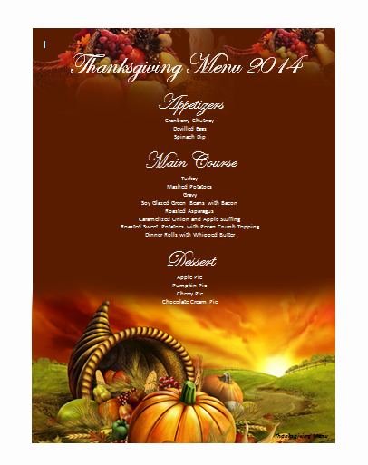 Thanksgiving Invitation Templates Free Word Unique Thanksgiving Menu Template Microsoft Word Templates