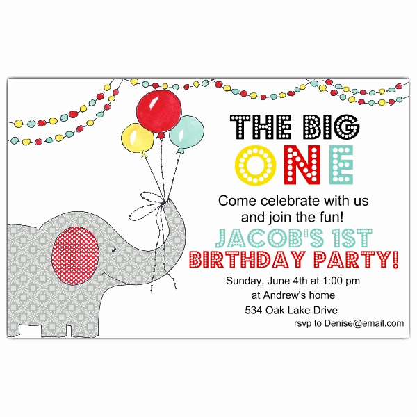 The Big One Birthday Invitation Awesome the Big Circus 1st Birthday Invitations