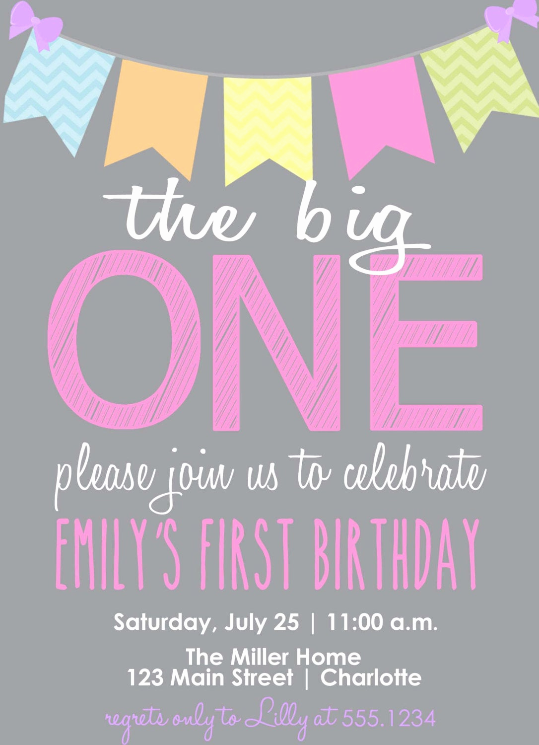 The Big One Birthday Invitation Awesome the Big E Birthday Invitation First Birthday Invitation