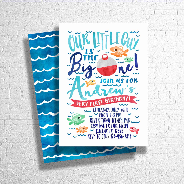 The Big One Birthday Invitation Best Of the Big E Fishing Invitatation