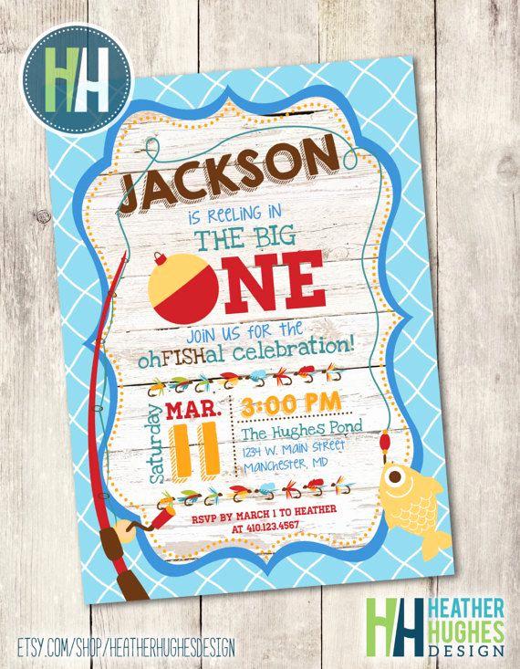 The Big One Birthday Invitation Fresh the Big One Fishing Birthday Fishing theme Birthday Invite