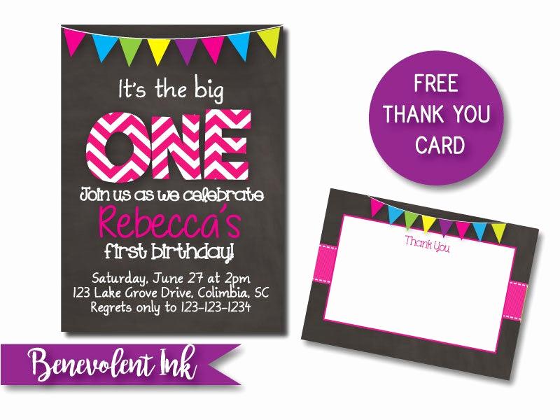 The Big One Birthday Invitation Inspirational First Birthday Invitation the Big E Printable 1st