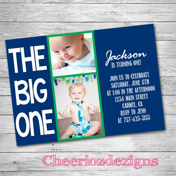 The Big One Birthday Invitation Lovely the Big E First Birthday Invitation Boy or by