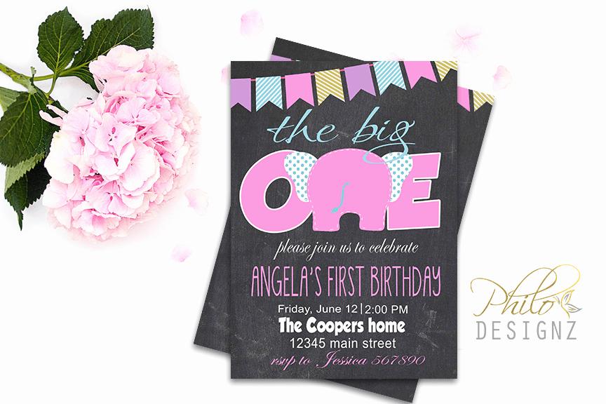 The Big One Birthday Invitation New Big E Birthday Invitation – Philodesignz