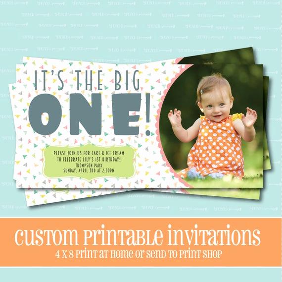 The Big One Birthday Invitation New the Big E Birthday Invitation Printable Invitation