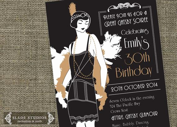 The Great Gatsby Invitation Beautiful Great Gatsby Glamour 1920s Flapper Party Invitation Printable
