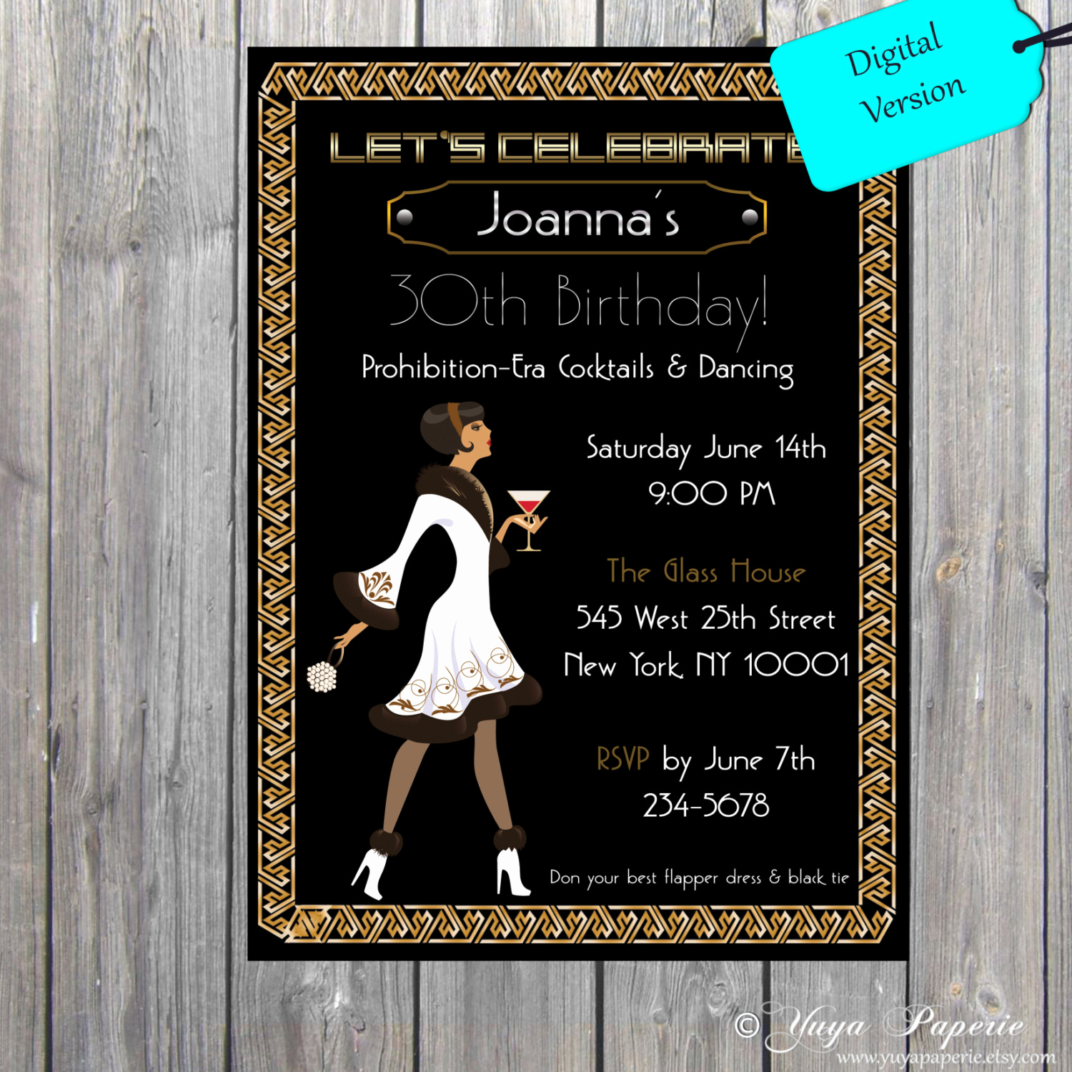 The Great Gatsby Invitation Best Of 1920s Great Gatsby Birthday Invitation 21st Birthday