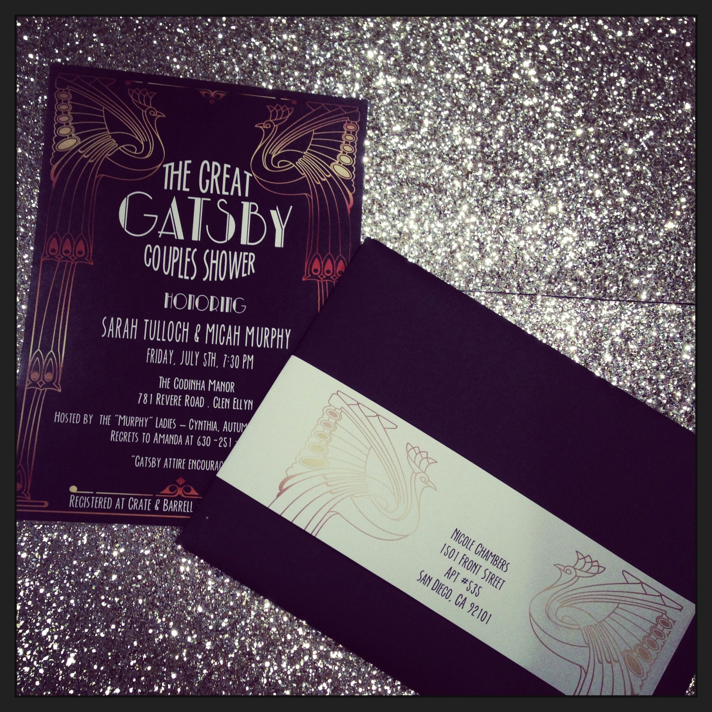 The Great Gatsby Invitation Best Of Great Gatsby Party Invite