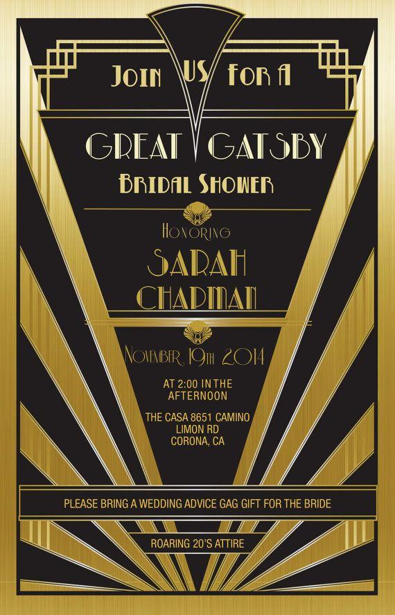 The Great Gatsby Invitation Luxury Great Gatsby Invitation Gold Set Of 25