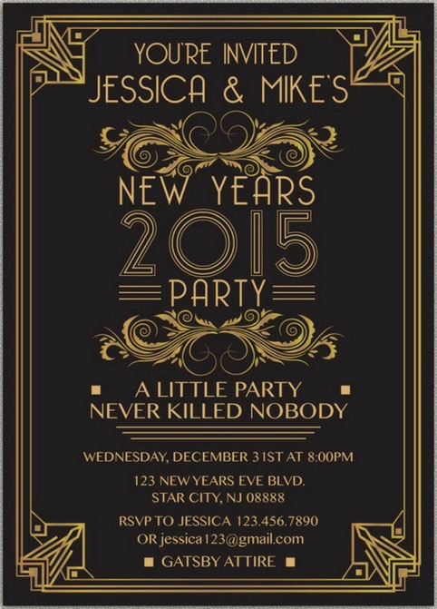 The Great Gatsby Invitation New How to Plan A Great Gatsby New Year S Eve Party