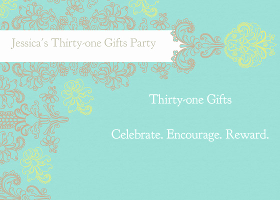 Thirty One Party Invitation Awesome Jessica S Thirty One Gifts Party Line Invitations