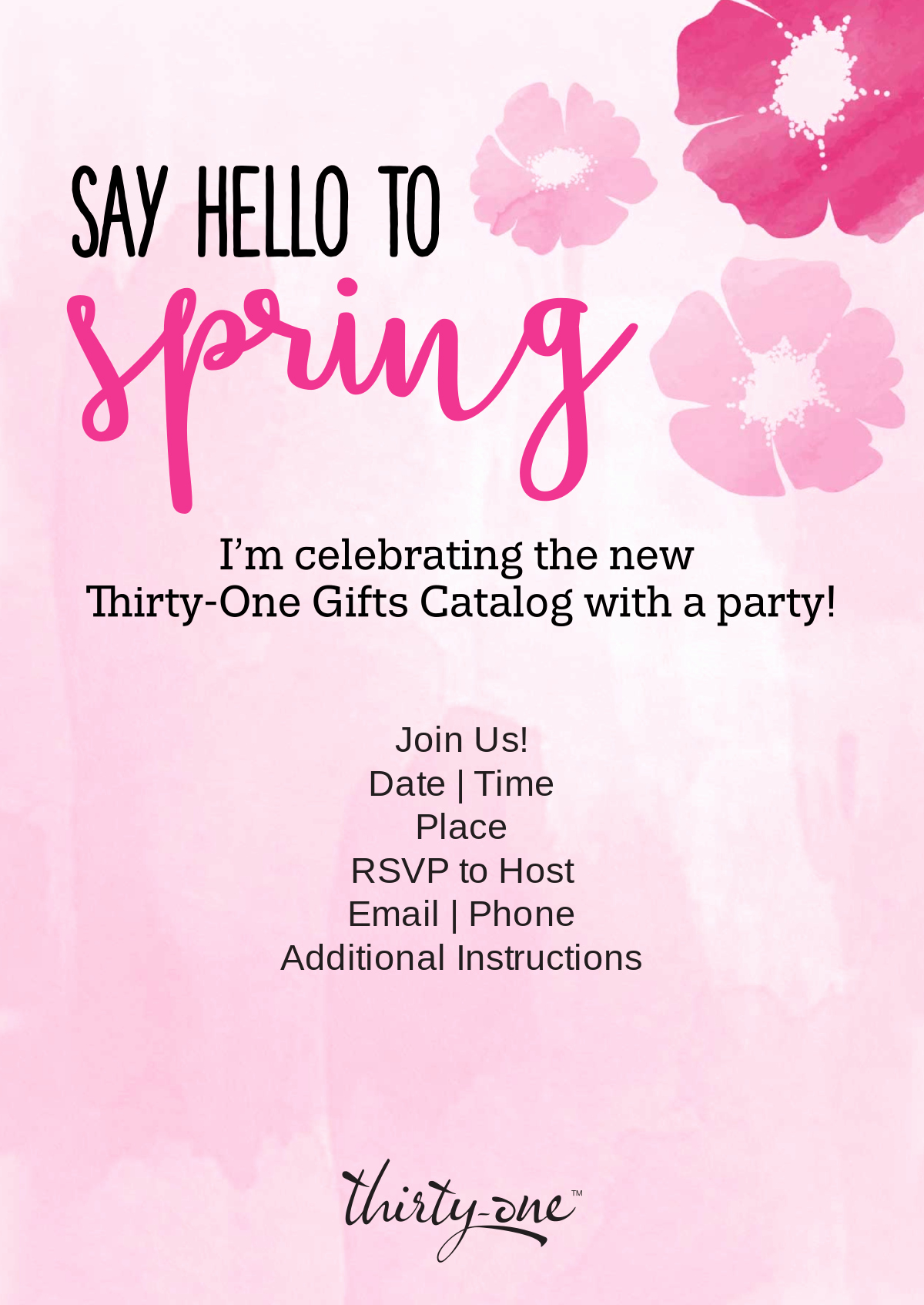 Thirty One Party Invitation Fresh Thirty E Gifts Launch Party Invite Thirty E