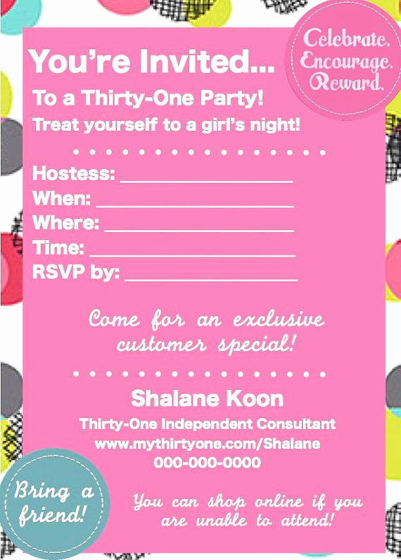 Thirty One Party Invitation Lovely Thirty E Spring Party Invite by Happydotcreatives On Etsy