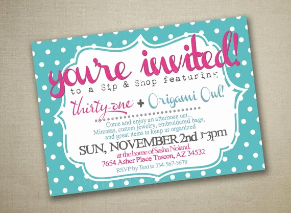 Thirty One Party Invitation Unique Unavailable Listing On Etsy