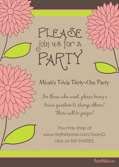 Thirty One Party Invitation Wording Beautiful Thirty E Party Invitation Template