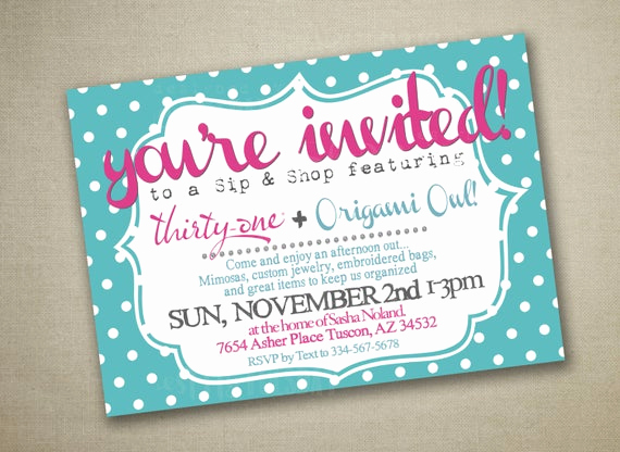 Thirty One Party Invitation Wording Fresh Unavailable Listing On Etsy
