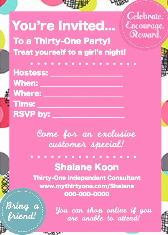Thirty One Party Invitation Wording Inspirational Items Similar to Thirty E Spring Party Invite On Etsy