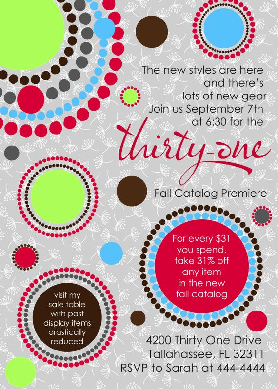 Thirty One Party Invitation Wording Inspirational Perfect for Your Next Thirty E Party Customized