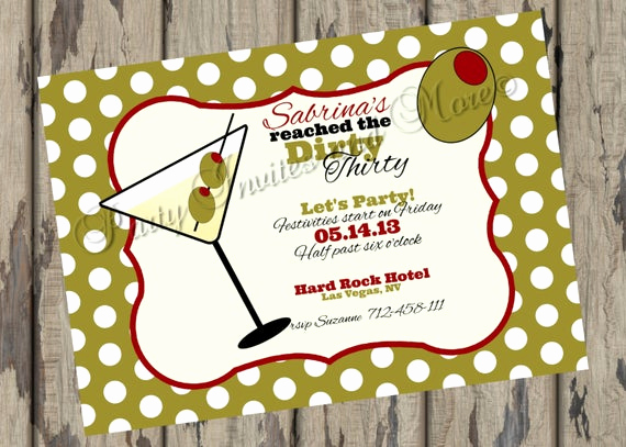 Thirty One Party Invitation Wording Lovely Items Similar to Dirty Thirty 30th Birthday Printable