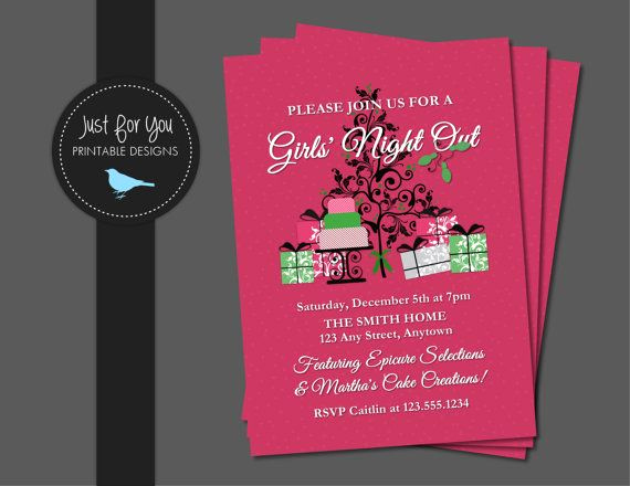 Thirty One Party Invitation Wording Luxury Christmas Invitation Girls Night Out Home Party