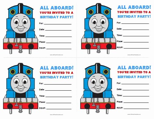 Thomas the Train Invitation Template Awesome Thomas Invitations Birthday Printable