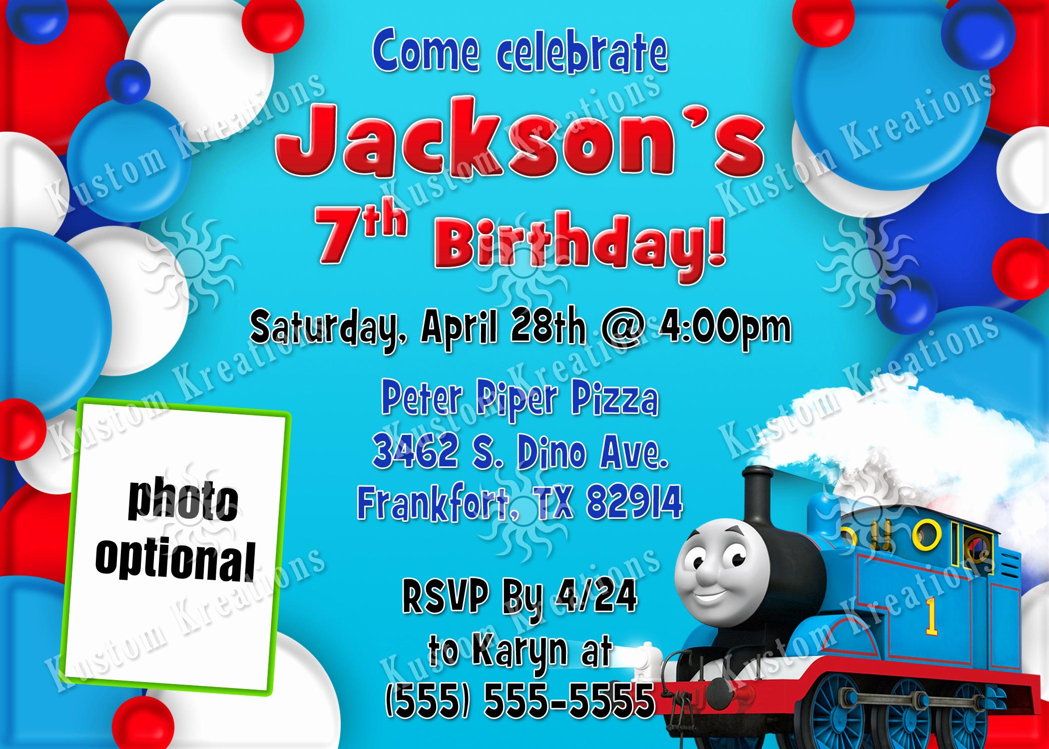 Thomas the Train Invitation Template Beautiful Thomas the Train Birthday Invitations