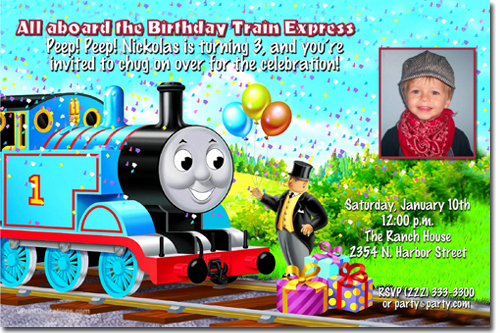 Thomas the Train Invitation Template Best Of Thomas the Tank Engine Birthday Invitations Candy