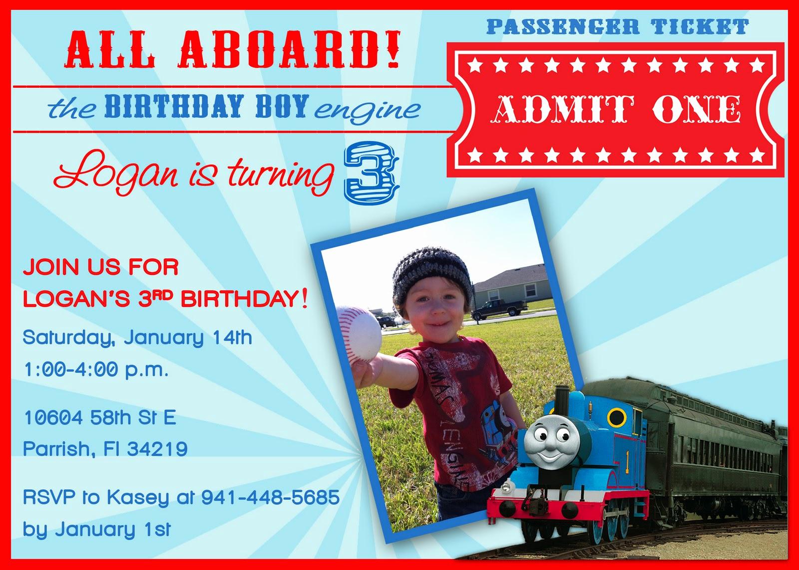 Thomas the Train Invitation Template Elegant 40th Birthday Ideas Free Thomas and Friends Birthday