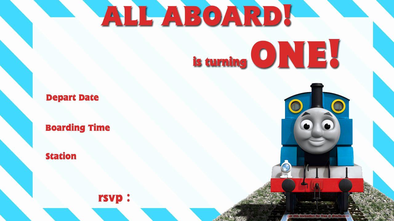 Thomas the Train Invitation Template Elegant Free Printable Thomas the Train 1st Birthday
