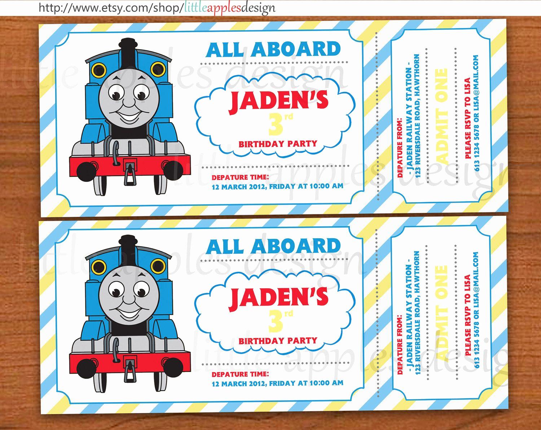 Thomas the Train Invitation Template Fresh Cool Thomas and Friends Invitations