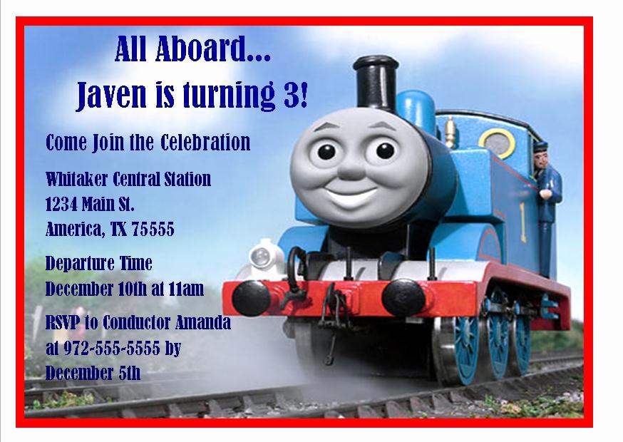 Thomas the Train Invitation Template Fresh Thomas the Train 3rd Birthday Invitations
