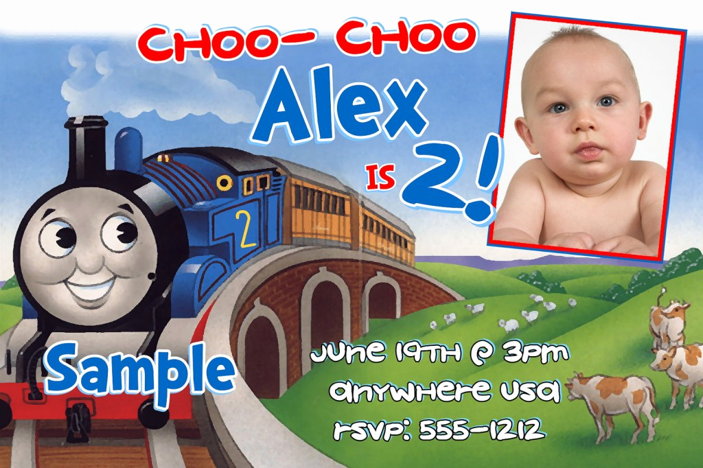 Thomas the Train Invitation Template Fresh Thomas the Train Birthday Invitations Ideas for Kids