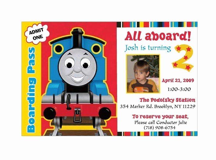 Thomas the Train Invitation Template Lovely Train Birthday Invitation Templates