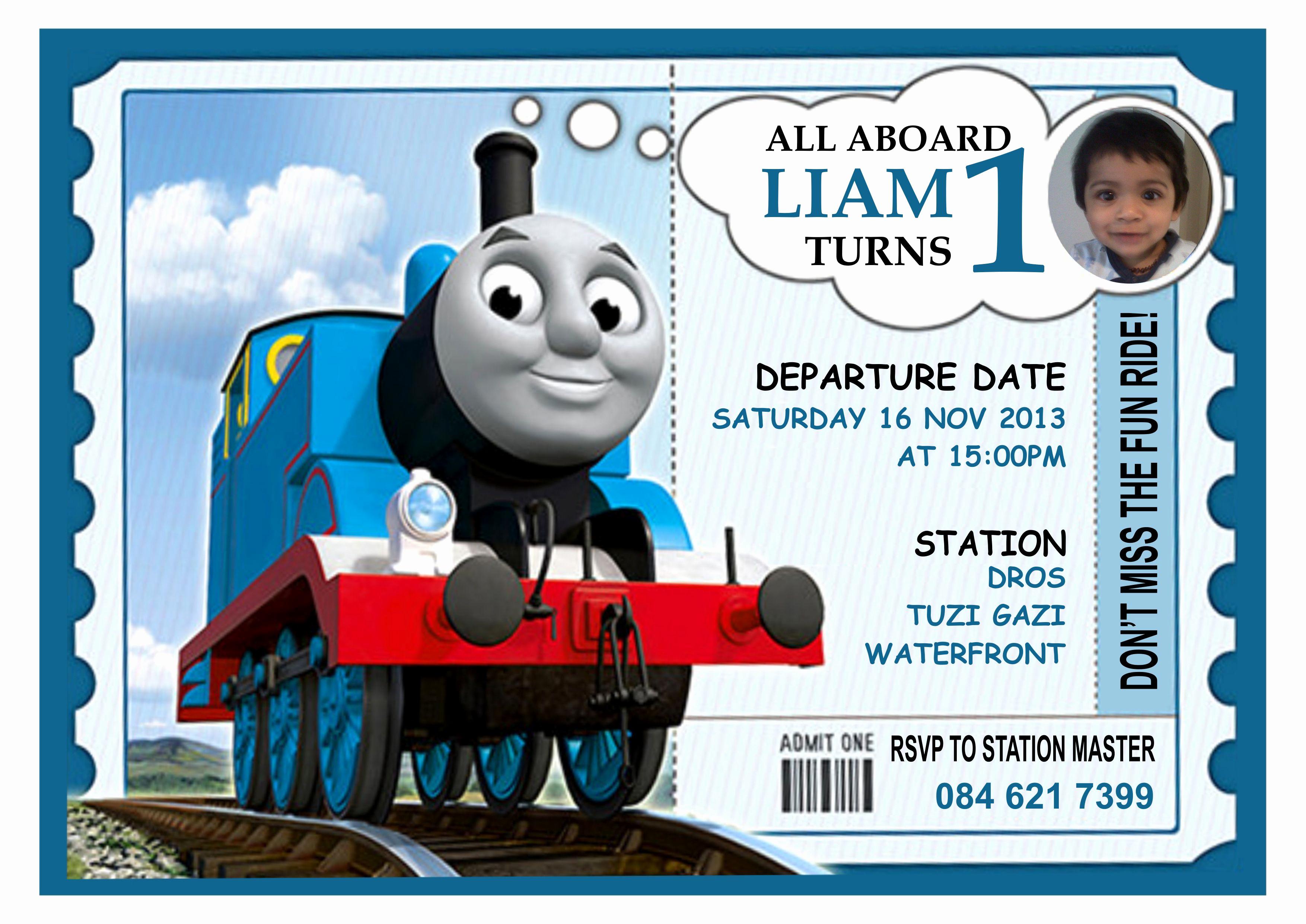 Thomas the Train Invitation Template Luxury 9 Train Birthday Invitations for Kid – Free Printable