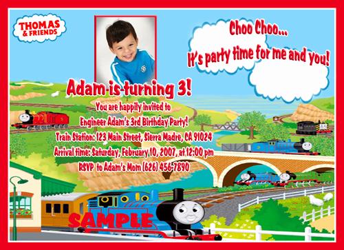 Thomas the Train Invitation Template New Pdinternet Blog