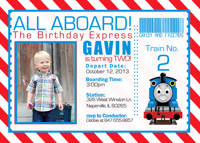 Thomas the Train Invitation Template New Thomas the Train Invitations Ideas – Bagvania Free