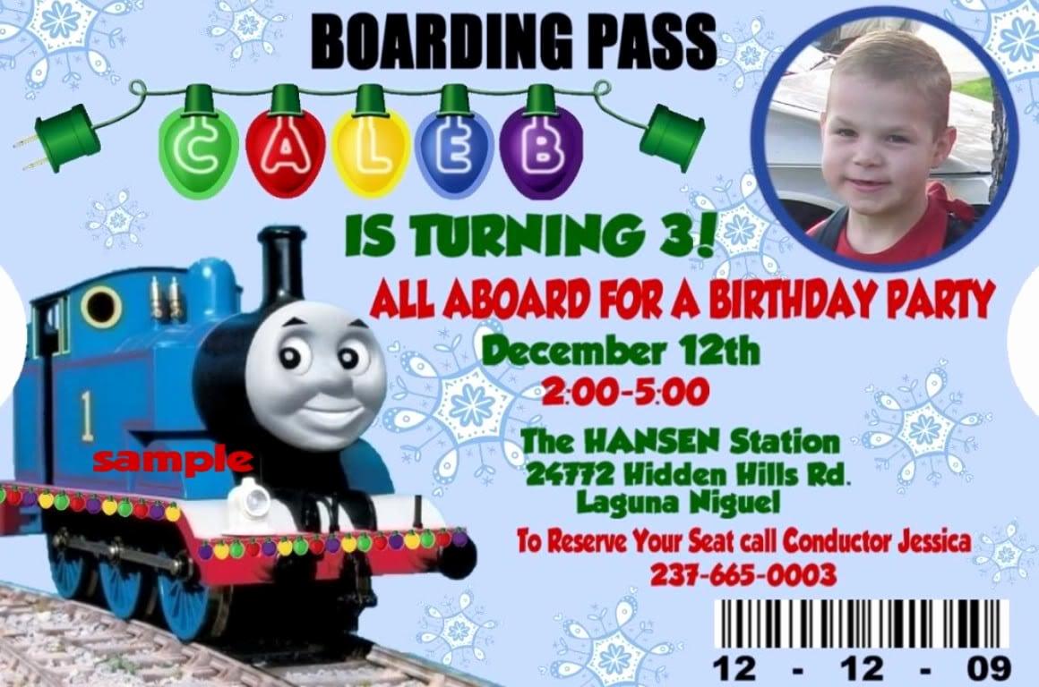 Thomas the Train Invitation Template New Train Invitation Template