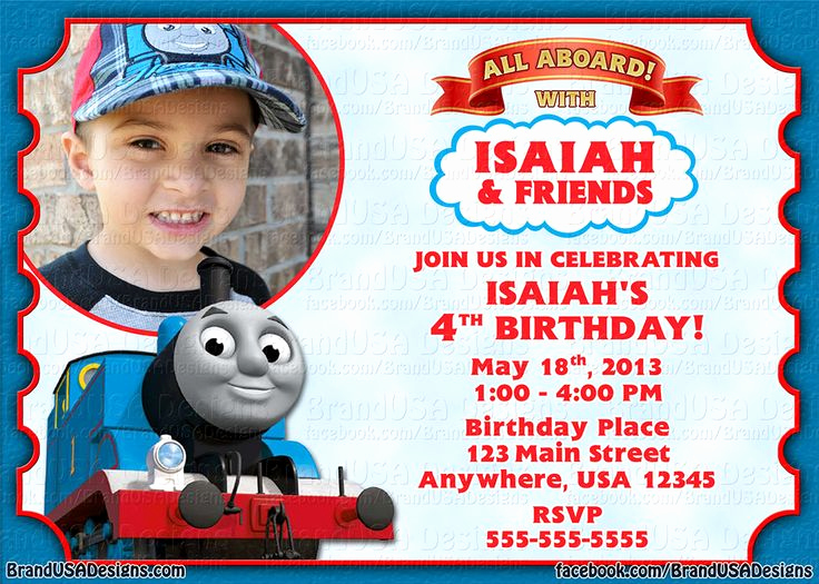 Thomas the Train Invitation Template Unique 1000 Images About isaac S 3rd Birthday On Pinterest