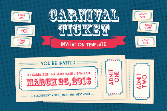 Ticket Invitation Template Free Awesome 66 Ticket Invitation Templates Psd Vector Eps Ai