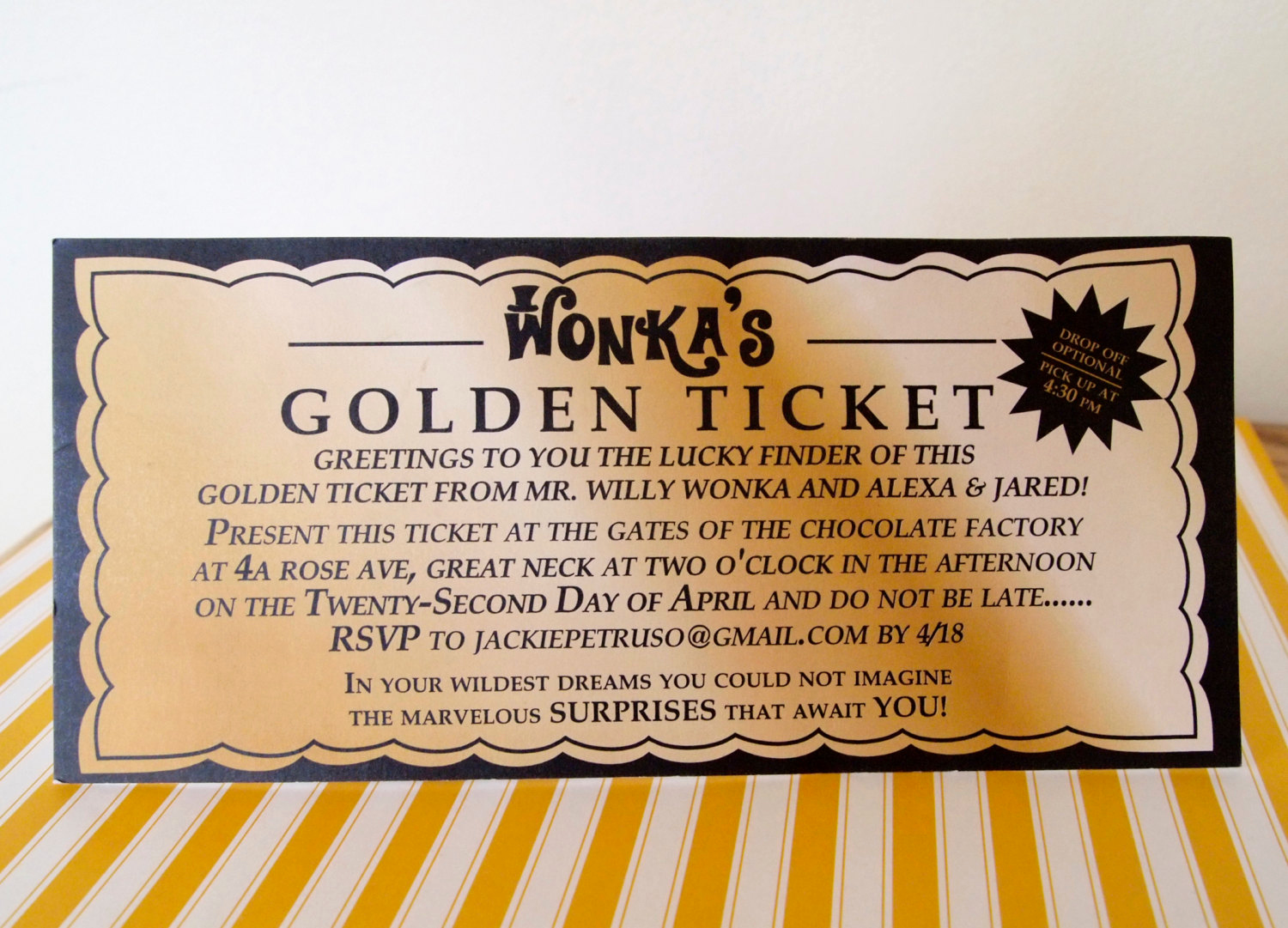 Ticket Invitation Template Free Awesome Willy Wonka Golden Ticket Invitation Digital Printable