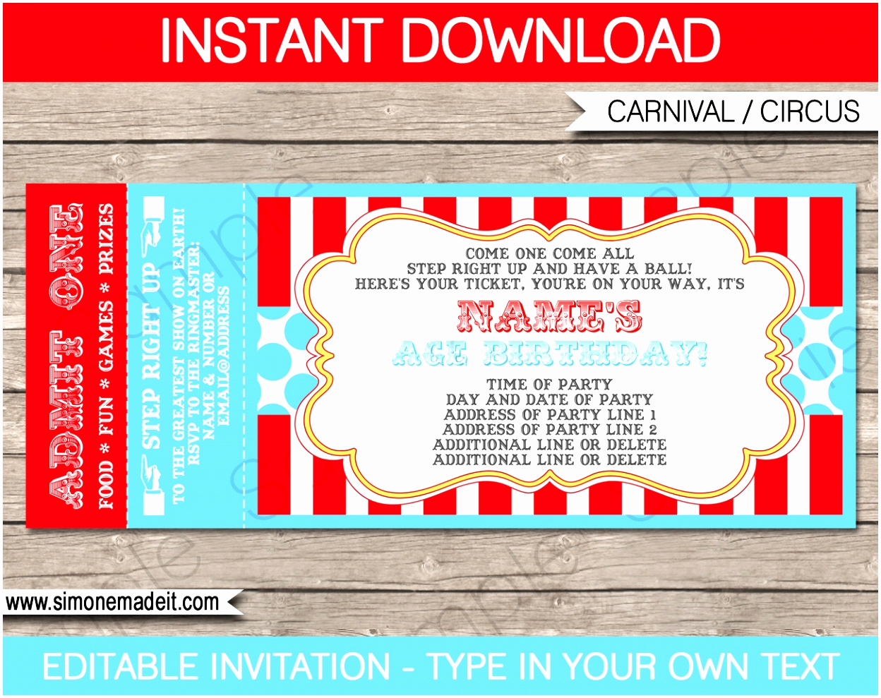 Ticket Invitation Template Free Fresh 12 Carnival Ticket Invitation Template Prwtv