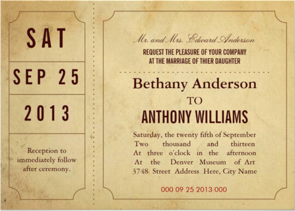 Ticket Invitation Templates Free Beautiful 49 Ticket Invitation Templates Psd Ai Word Pages