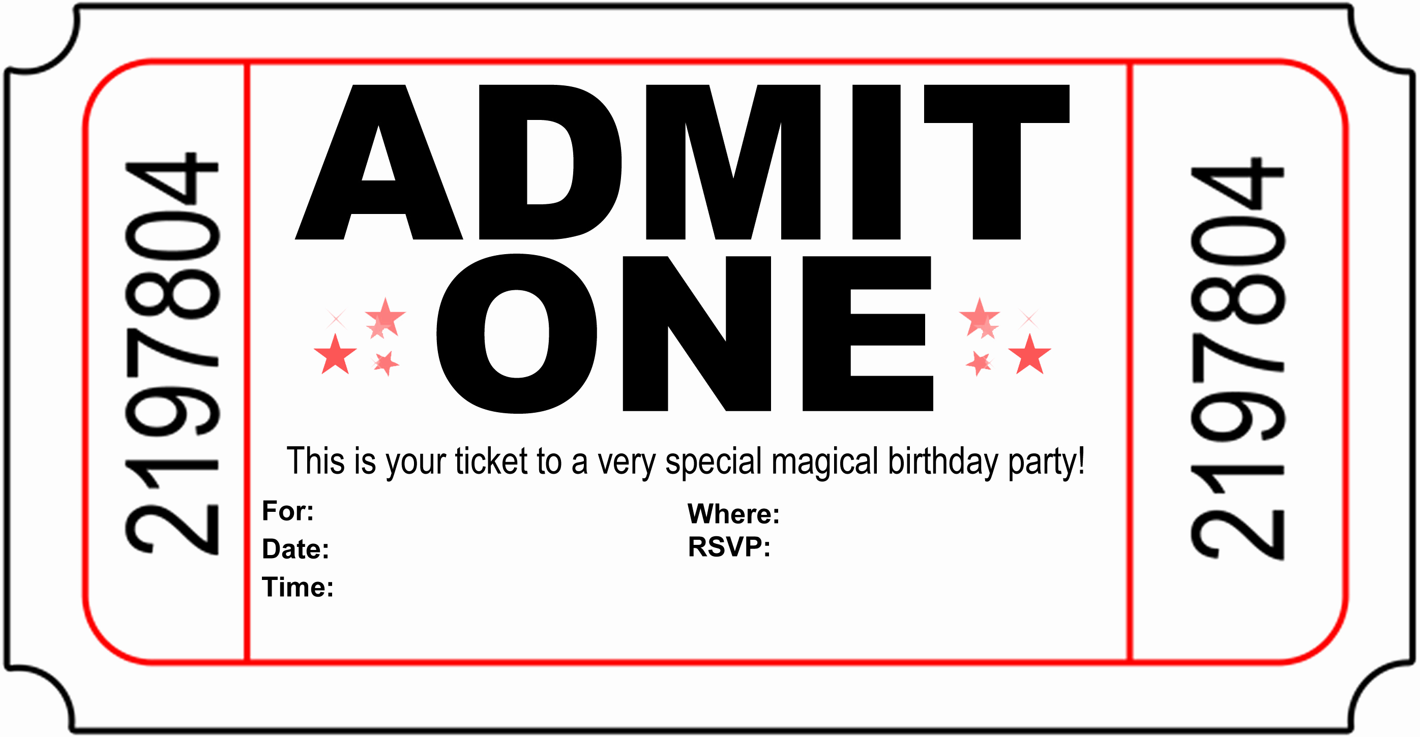 Ticket Invitation Templates Free New Free Carnival Ticket Invitation Template Download Free