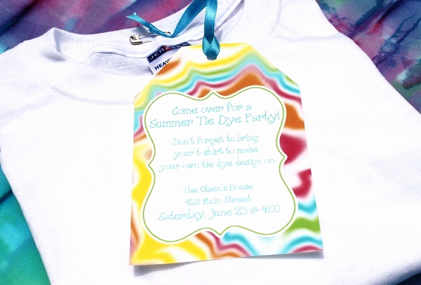 Tie Dye Invitation Template Free Beautiful 17 Best Images About Tie Dye Birthday On Pinterest