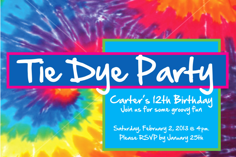 Tie Dye Invitation Template Free Best Of Tie Dye Party Invitation Tiedye Party Invitation Digital